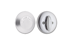 KWIKSET ONE-SIDED DEADBOLT WITH BACKPLATE - SATIN CHROME