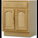 "24""W X 18""D OAK VANITY BASE - TWO DOOR"