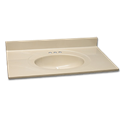 "31"" X 22"" CULTURED MARBLE VANITY TOP - BONE"