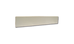 "19"" CULTURED MARBLE TOP SIDE SPLASH - WHITE"