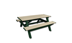 DSO- DOGIPARK 6' PICNIC TABLE - GREEN/SAND