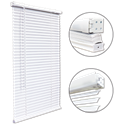 CORDLESS VINYL PLUS MINI BLIND 1.5 HEADRAIL - 17X72- WHITE