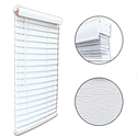 "2"" CORDLESS FAUX WOOD BLIND 12X72 - WHITE"